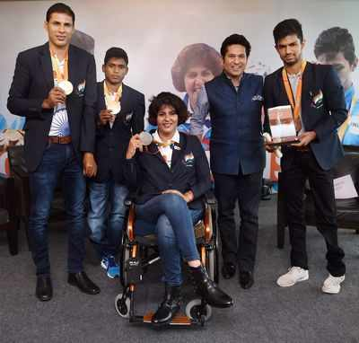 Indian Paralympics medal winners felicitated