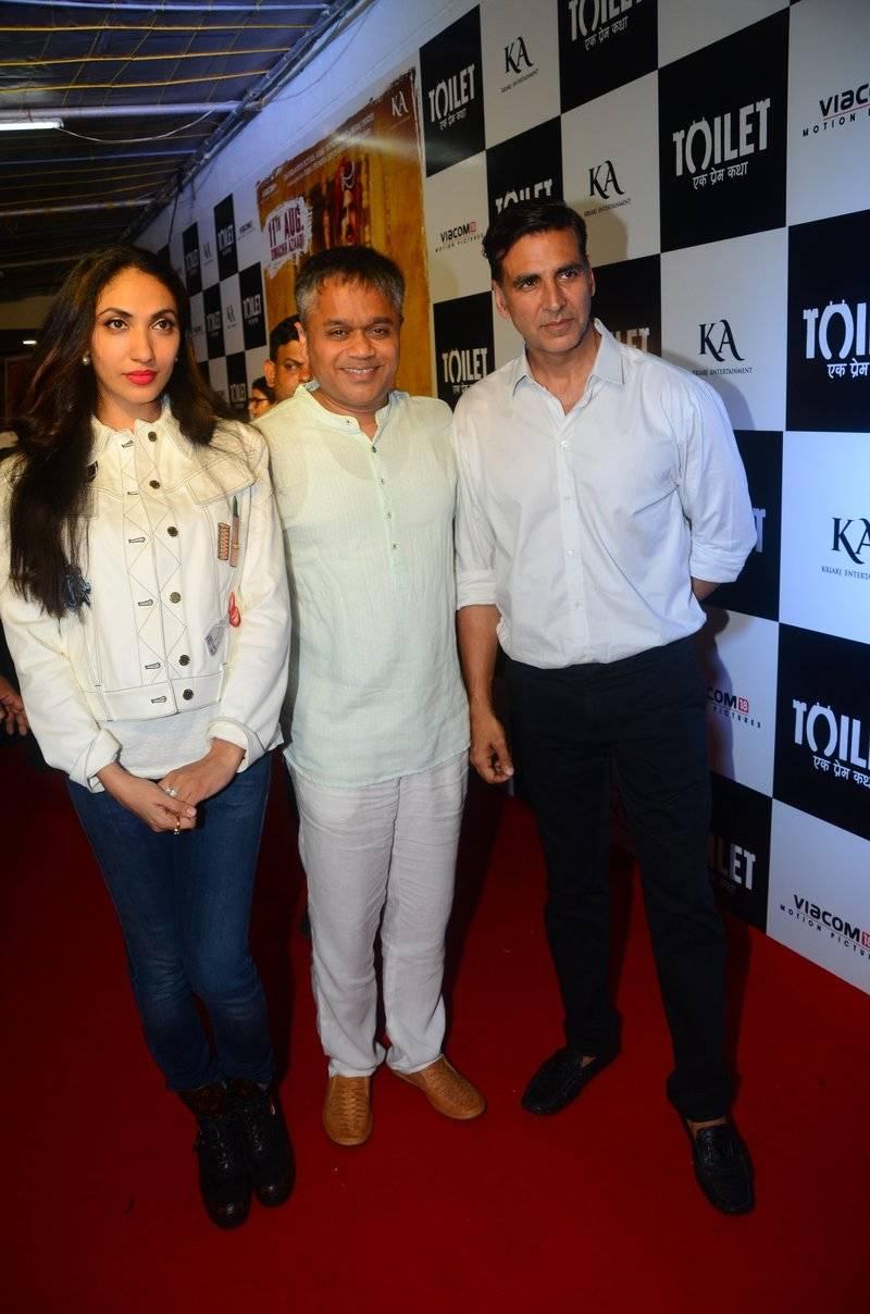 Stars at the premiere of Toilet – Ek Prem Katha