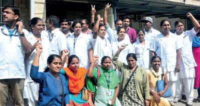 NIMHANS crisis worsens, nurses stage a walkout