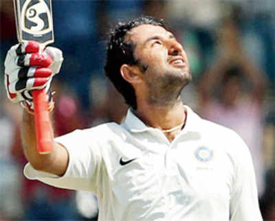 For the record, Pujara scores third first class triple ton