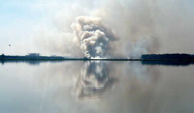 Bellandur Lake catches fire again, twice in one day...5,000 jawans to the rescue