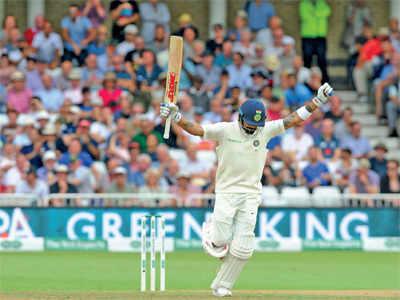 India vs England test series: Virat Kohli hits a century, India set England mammoth 521-run target