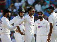 3rd Test, Day 1: Axar, Rohit put India on top against England
