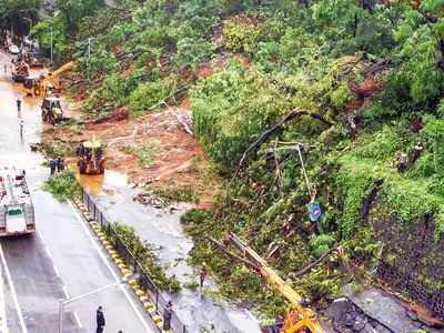 Mumbai rains: Alert BMC officer from disaster management predicts landslide  at Pedder Road, prevents tragedy