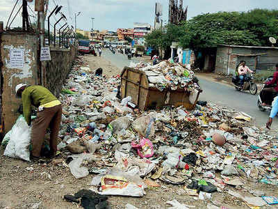 Garbage piles up in Wagholi
