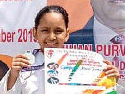 Ananya wins silver in nat'l Karate