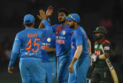 India vs Bangladesh Live Cricket Score & Updates, 5th T20 Match of Nidahas Trophy 2018 Tri-Series: Rohit Sharma and Washington Sundar power India's 17-run win over Bangladesh, seal spot in finals