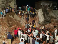 Several feared trapped as building collapses in Ahmedabad's Odhav area