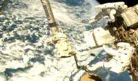 ESA, NASA astronauts carry out spacewalk repair