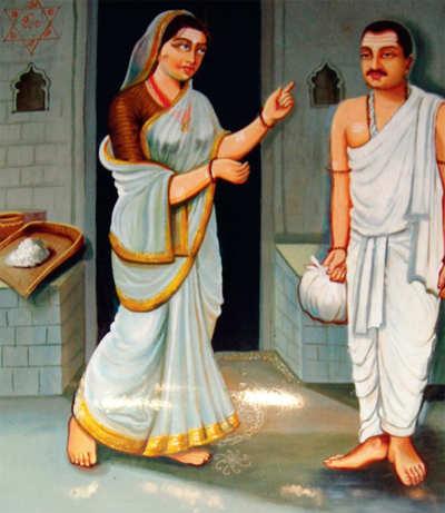 A few devotees of Shiva