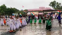 MP: Rains fail to deter children from celebrating I-Day in Ujjain