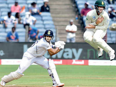 India vs South Africa 2nd Test: Mayank Agarwal hits his second Test ton as India takes control on day 1