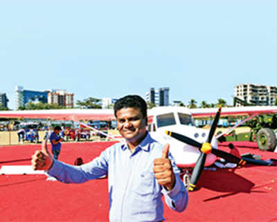 Plane put together on a Charkop terrace features in Make in India