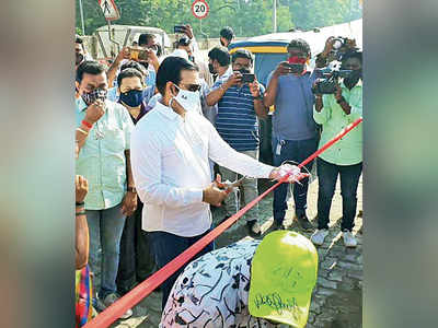 Kalyan road inaugurated twice; Sena, BJP line up to claim credit for the construction