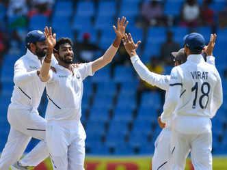 1st Test: Bumrah, Rahane star as India decimate Windies by 318 runs