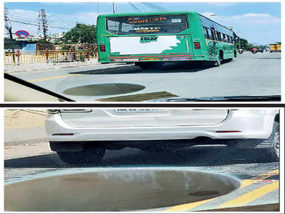 Cars enter bus lane on Outer Ring Road