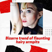 Bizarre trend of flaunting hairy armpits