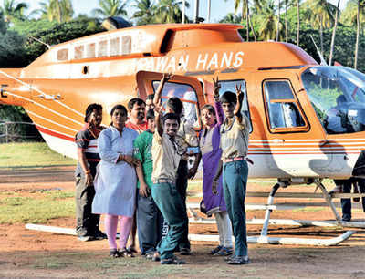 One heli of a ride in Hampi