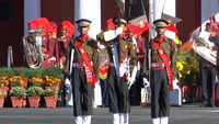 Defence Minister Rajnath Singh attends IMA's passing out parade in Dehradun