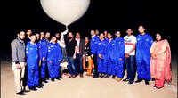 Chandigarh school students launch balloon satellite