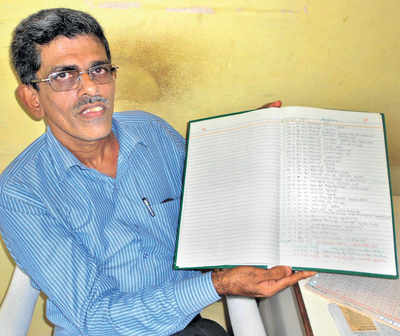Karnataka: Farmer measured rain every day for 42 years