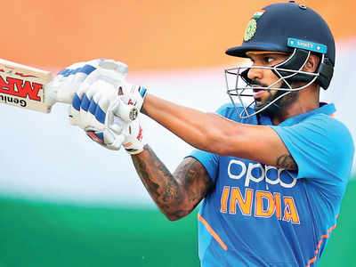 Shikhar Dhawan shows good signs for India A