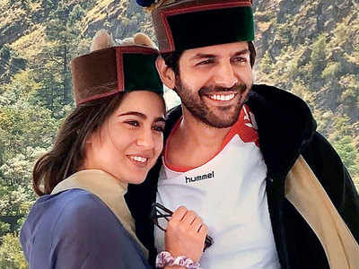 Photos: Sara Ali Khan and Kartik Aaryan go local in Himachal Pradesh