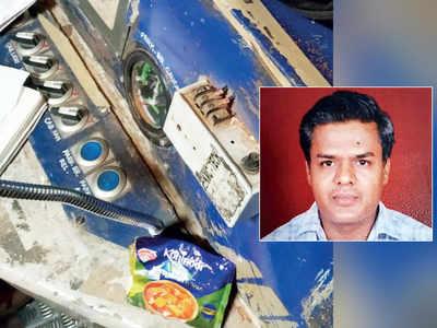 Motorman piloting Belapur-bound train hit by half-opened packet of paneer gravy powder