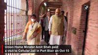 HM Amit Shah visits Cellular Jail in Port Blair, pays tribute to Savarkar