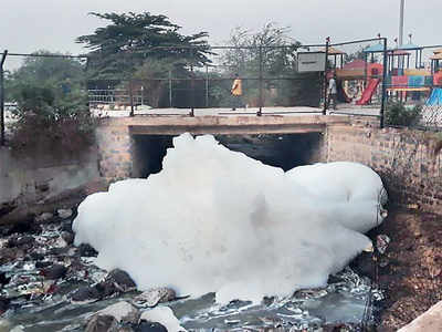Kaggadasapura Lake has froth, pee and garbage