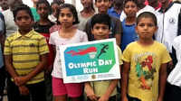 Visakhapatnam: Intl Olympic Day run held at RK Beach