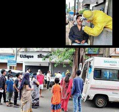 BJP corporator's insistence to collect swabs on road irks docs