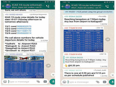 WhatsApp your way to Bengaluru airport