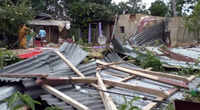 Several houses damaged, trees uprooted after storm hits Tripura's Sipahijala