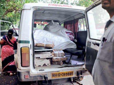 Not patients, these ambulances are being used for ferrying goods