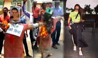 Protesters burn Sonakshi Sinha's effigy for her 'irrelevant' comment in Moradabad