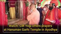 Watch: CM Yogi offers prayers at Hanuman Garhi Temple in Ayodhya