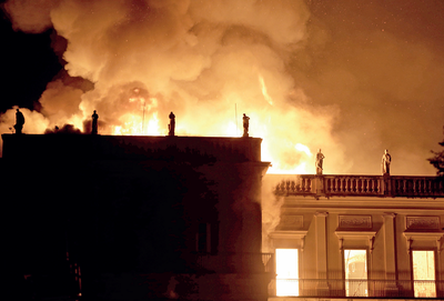 Blaze ravages 200-year-old Brazil museum