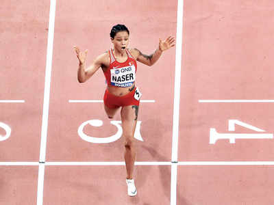 World Athletics Championship: Bahrain's Salwa Eid Naser wins the women's 400m in 48.14 seconds