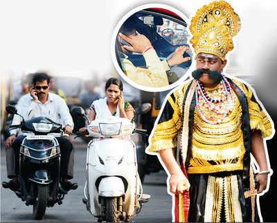 Traffic cops bring Yamraj on the road to curb phone mania