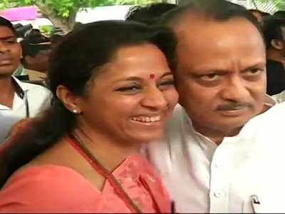 Supriya Sule welcomes Ajit Pawar, Aaditya Thackeray with hugs; newly-elected MLAs take oath