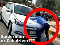 On cam: When a cab driver turned into Spiderman