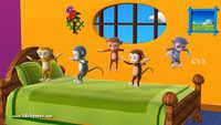 Popular Children English Nursery Rhyme 'Five Little Monkey' - Kids Nursery Rhymes In English