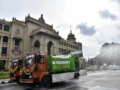 Mist cannons to disinfect public places  in Bengaluru