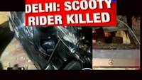 Man riding scooter killed by speeding Mercedes in Delhi's Vasant Vihar