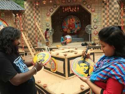 Sushant Singh Rajput's images feature in Kolkata Durga Puja pandal