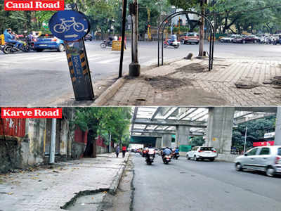 PMC caught on wrong foot in pavement, cycle track upkeep
