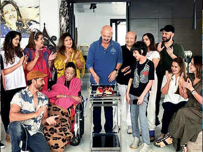 A 'real' birthday party for Rakesh Roshan