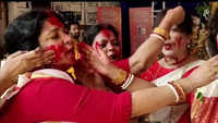 Sindoor-khela rituals performed across country on last day of Durga puja