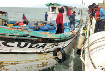 Karnataka: Fishing vessel, crew rescued by Coast Guard